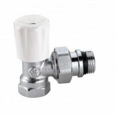 Угловой верхний термостатический вентиль с предварительной настройкой, подсоединение 1/2″