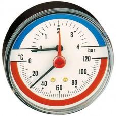 Термоманометры 1/2″ 6 бар  120°С радиальный