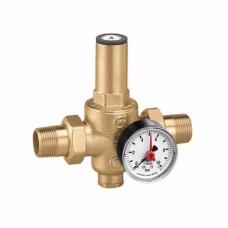 Редукционный клапан давления со сменным картриджем, с соединением для манометра. 3/4″ от 0,5 до 6
