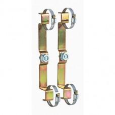 """Пара крепёжных кронштейнов для коллекторов серии 350 и 592 на 3/4"""" и 1"""" укомплектованы полосками и винтами."""