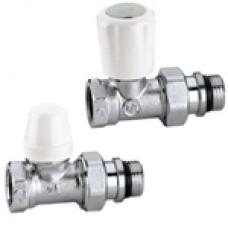 Комплект радиаторных вентилей прямой т/с и запорный