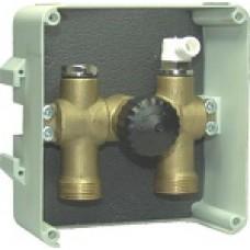 Смесительный узел для одного контура теплого пола 10 бар +90°C 120мм х 140 мм х 60мм